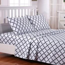 Спално бельо от Ранфорс, Бяло