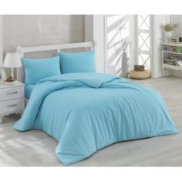 Спално бельо, Памук синьо