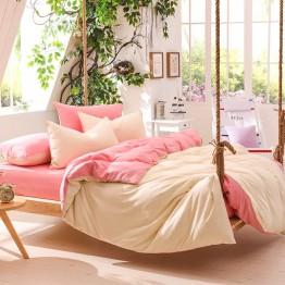 Спално бельо, Памук, Beige/Pink