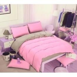 Спално бельо с Пролетна олекотена завивка, Розово/Сиво