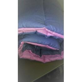 Олекотена завивка, сиво и розово