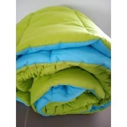 Зимна олекотена завивка, Зелено/Синьо