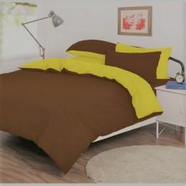 Спално бельо, Памук, кафево жълто
