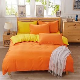 Спално бельо с Пролетна олекотена завивка, Оранжево/Жълто