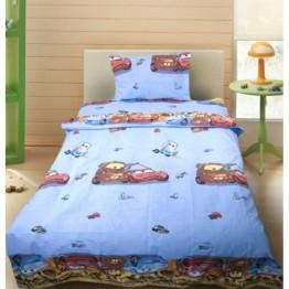 Зимно детско спално бельо с олекотена завивка, Cars 2