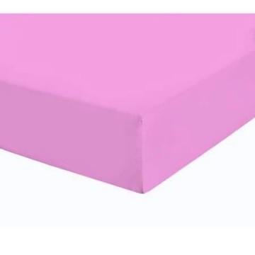 Чаршаф с ластик Памучен плат Pink