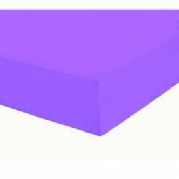 Чаршаф с ластик, Памучен плат, Purple