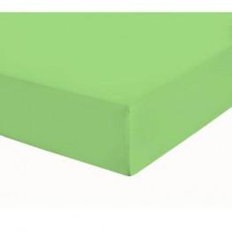 Чаршаф с ластик, Памучен плат, Green