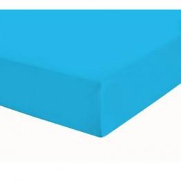 Чаршаф с ластик, Памучен плат, Blue