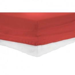 Чаршаф с ластик , Памучен плат, Red