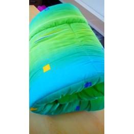 Зимна олекотена завивка, зелени и синьо
