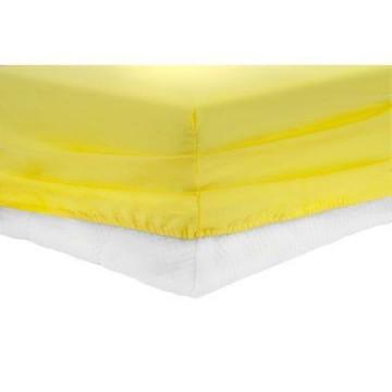 Чаршаф с ластик Памучен плат Yellow
