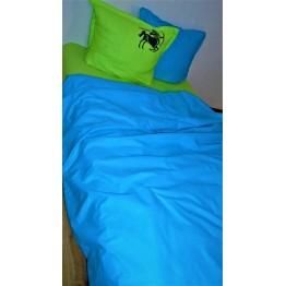 Спално бельо, Памук, Blue and Green Zodiac
