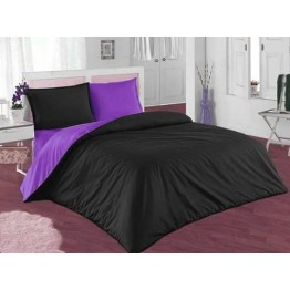Спално бельо, Памук, Black and Purple