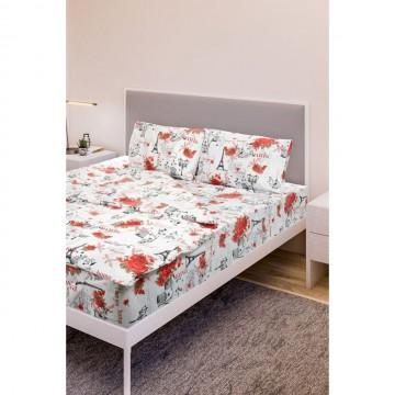 Двоен голям спален комплект, Ранфорс, Daily Red Rose