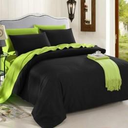Спално бельо, Памук, Black and Green