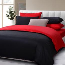 Спално бельо, Ранфорс, Black and Red