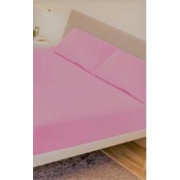 Спално бельо, Чаршаф памук с 2 калъфки, Розово