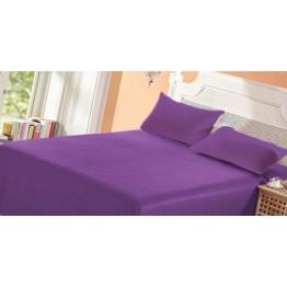 Спално бельо, Чаршаф памук с 2 калъфки, Лилаво