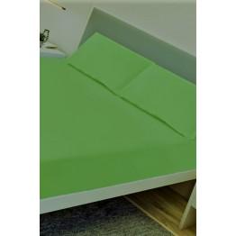Спално бельо, Чаршаф памук с 2 калъфки, Зелено