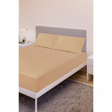 Спално бельо, Чаршаф памук с 2 калъфки, Праскова