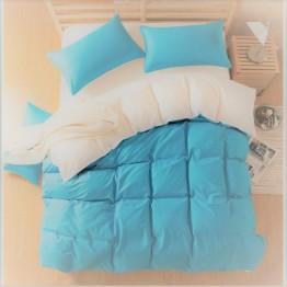 Олекотена завивка, Памук, Blue/White зимна