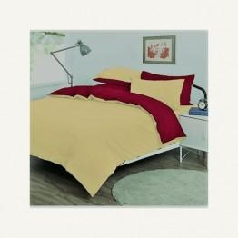 Спално бельо от памук, Бежово/Бордо