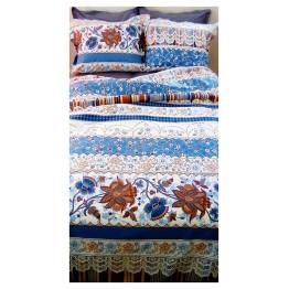 Спално бельо, Ранфорс, Blu Mosaic само голям размер