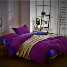 Спално бельо с Пролетна олекотена завивка, Лилаво/Синьо