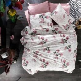Спално бельо от Ранфорс, Рози/Розово