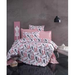 Спално бельо от Ранфорс, Пера/Розово
