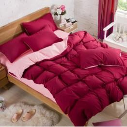 Спално бельо със Зимна олекотена завивка, Цикламено/Розово