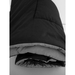 Двулицева зимна олекотена завивка, Черно/Сиво