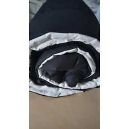 Двулицева зимна олекотена завивка, Черно/Ванилия